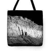 River Wall Bw Tote Bag