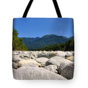 River With Mountain Tote Bag