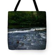 River Wye Waterfall - In Peak District - England Tote Bag