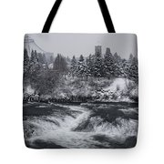 Riverfront Park Winter Storm - Spokane Washington Tote Bag