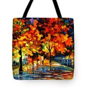 Rivershore Park - Palette Knife Oil Painting On Canvas By Leonid Afremov Tote Bag