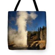 Riverside Geyser Eruption Tote Bag