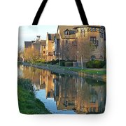 Riverside Home Reflections Vertical Tote Bag by Gill Billington
