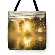 Riverside Morning Walks Tote Bag