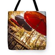 Riverwalk Umbrellas Tote Bag
