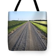 Road Across North Dakota Prairie Tote Bag