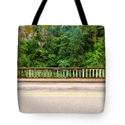 Road And Lush Green Forest Tote Bag