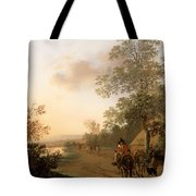 Road By The Edge Of A Lake Tote Bag