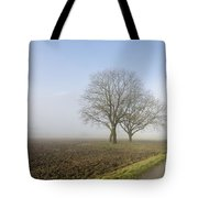Road In The Fog Tote Bag