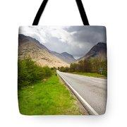 Road Into Glen Coe Tote Bag