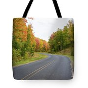 Road Passing Through A Forest, Alger Tote Bag