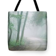 Road Passing Through A Forest, Skyline Tote Bag