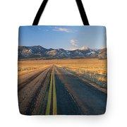Road Through Desert Tote Bag