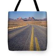 Road Through Monument Valley, Utah Tote Bag