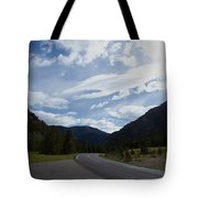 Road Through The Mountains Tote Bag