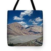 Road To Nubra Valley Tote Bag