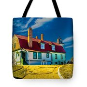 Road To Point Betsie Light Tote Bag