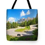 road to Pordoi pass Tote Bag