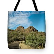 Road To The Two Humped Camel Tote Bag