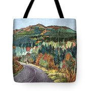 Road To Torloisk, 2008 Wc And Ink Tote Bag