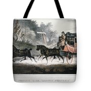 Road Travel/stagecoach Tote Bag
