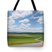 Road Winding Through The Palouse Wheatfields Tote Bag