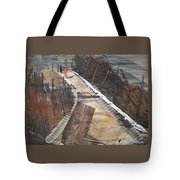 Road With Dense Fencing  Tote Bag