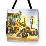 Roadmaster Tractor In Watercolor Tote Bag