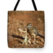 Roadrunner With Lizard Tote Bag