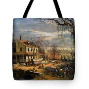 Roadside Inn, 1872 Tote Bag