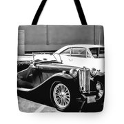 Roadster In Black And White Tote Bag