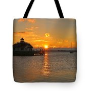 Roanoke Marshes Lighthouse 3210 Tote Bag