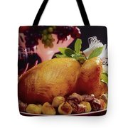 Roast Turkey With Potatoes Tote Bag by The Irish Image Collection