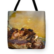 Roasted Steak In Traditional Kotlovina Dish Tote Bag