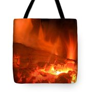 Face In The Fire Tote Bag