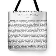 Robert Koch: Paper, 1881 Tote Bag