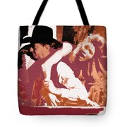 Robert Mitchum Hauls Angie Dickinson Collage Young Billy Young  Old Tucson Arizona 1968-2013  Tote Bag