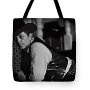 Robert Mitchum Leaning On Poker Table Young Billy Young Set Old Tucson Arizona 1969-2008 Tote Bag