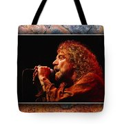 Robert Plant Art Tote Bag by Marvin Blaine