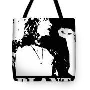 Robert Plant Black And White Pop Art Tote Bag