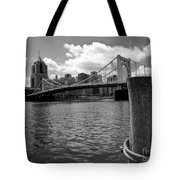 Roberto Clemente Bridge Pittsburgh Tote Bag