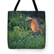 Robin Gathering For Nest Tote Bag