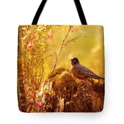 Robin In Spring Tote Bag