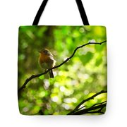 Robin In The Glade Tote Bag
