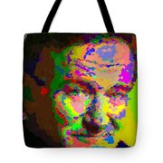Robin Williams - Abstract Tote Bag