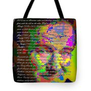 Robin Williams - Abstract With Text Tote Bag