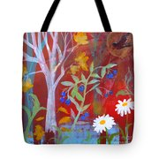 Robin's Blueberry Daisy Sunshiny Day Tote Bag