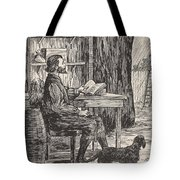Robinson Crusoe In His Cave Tote Bag