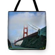 Rock And Golden Gate Tote Bag