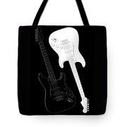 Rock And Roll Yin Yang Tote Bag